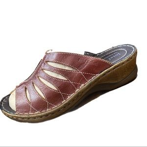 Josef Seibel Brown Leather Sandals Size 42